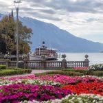 Ukwiecona promenada w Riva del Garda