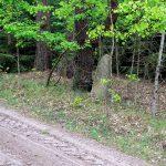 Kolejny kamienny znak wypatrzeliśmy za wsią Zielonowo