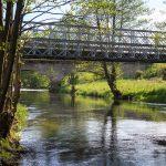 Drawiny –most drogowy a w tle kolejowy na Drawie