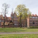 Neogotycki budynek wyb. Na początku XX w. ob. Wyższa szkoła państwowa w Wałczu