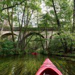 Most na Rurzucy widziany z kajaka