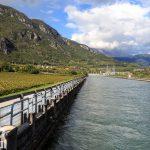 Kanał doprowadzający wodę do tunelu Adige-Garda